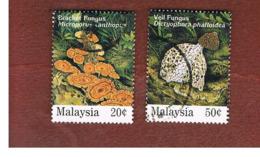 MALESIA (MALAYSIA)  -  SG 555.557  -   1995  MUSHROOMS  -  USED ° - Malesia (1964-...)