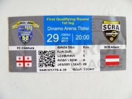 Entry Ticket From Georgia Football Match FIFA Match FC Chikhura Vs SCR Altach Austria 2017 Uefa - Tickets D'entrée