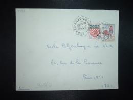 LETTRE TP COQ DE DECARIS 0,25 + AMIENS 0,05 OBL. HEXAGONALE 10-3 1965 LOUBIGNE DEUX-SEVRES (79) - Postmark Collection (Covers)