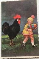 (1276) Vroolijk Paaschfeest - Grote Zwarte Haan -1937 - Pâques