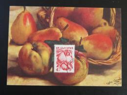 Carte Maximum Card Fruit Poire Bulgarie Bulgaria (ref 85719) - FDC