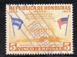 APR1773a - HONDURAS 1959 ,  Posta Aerea Yvert N. 277 Usato  (2380A) - Honduras