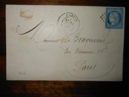 Lettre GC 743 Carvin Pas De Calais - Marcofilie (Brieven)