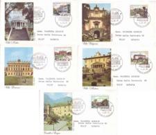 Italia 1986 - Ville D'Italia, 5 FDC - FDC