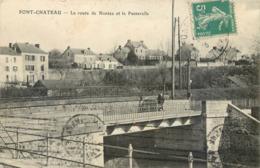 CPA 44 Loire Atlantique Inférieure Pontchâteau Ou Pont Chateau La Route De Nantes Et La Passerelle - Pontchâteau