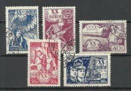 RUSSIA Russland 1938 Michel 652 - 656 O - Usati