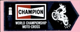 Sticker - CHAMPION - WORLD CHAMPIONSHIP MOTO-CROSS - Bougie - Adesivi