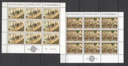 P1451 1981 YUGOSLAVIA EUROPA CEPT ART PAINTINGS  MILENKOVICH 2KB MNH - Europa-CEPT
