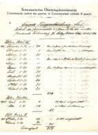 SANTSCHI REAL BIDER VAUTIER KURZ DUBENDORF 1916 SUISSE AVIATION /FREE SHIPPING REGISTERED - Historische Documenten