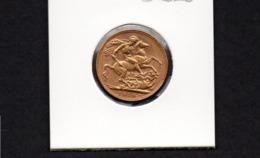 AUSTRALIA, 1910 KEV11 FULL GOLD SOVEREIGN, PERTH MINT VF - Monnaie Pré-décimale (1910-1965)