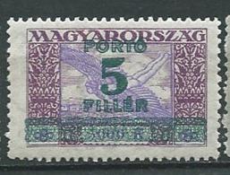 Hongrie  - Timbre Taxe  - Yvert N° 107 *  -  Cw35004 - Strafport