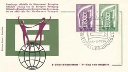 EUROPA CEPT Jahrgang 1956 - FDC - Europa-CEPT