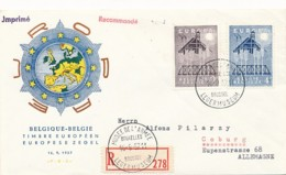 EUROPA CEPT Jahrgang 1957 - FDC - Europa-CEPT