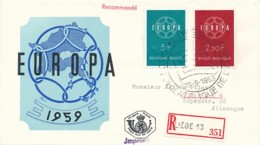 EUROPA CEPT Jahrgang 1959 - Siehe Scan - FDC - 1959