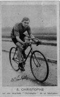 """E Christophe Sur Une Bicyclette """"Christophe"""" De Sa Fabrication - France"""