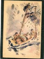 CPA - Illustration - Les MANOEUVRIERS Sont Les Descendants Des Fameux Gabiers De La Marine à Voile - Krieg