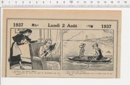 2 Scans Humour Nourrice Qui A Perdu Le Bébé Mer D'huile Sardines à + Fillette Et Poupée Ancienne 226MB - Old Paper