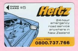 New Zealand - Private Overprint - 1992 Hertz Rental Cars #1 $5 Mint - NZ-CO-02 - New Zealand
