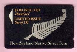 New Zealand - Private Overprint - 1994 Silver Fern $5 - Mint - NZ-CO-30 - New Zealand