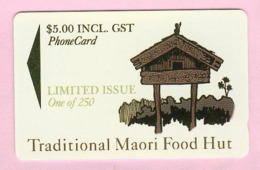 New Zealand - Private Overprint - 1994 Traditional Maori Food Hut $5 - Mint - NZ-CO-29 - New Zealand