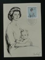 Carte Maximum Card Naissance De Prince Franz Joseph Wenzel 1965 Liechtenstein (ref 86030) - Familles Royales
