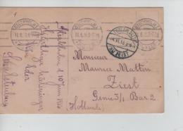 PR7427/ PC Sweden Stockholm 1916 > PDG-POW Camp Zeist Genie 3-Bar 2 - WW I