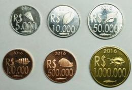 CABINDA 2016 SERIE 6 MONETE NON UFFICIALE. - Angola