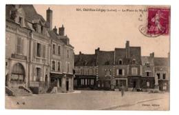 CHATILLON COLIGNY LA PLACE DU MARCHE COIFFEUR COMMRECES ANIMEE - Chatillon Coligny