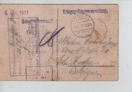 PR7428/ CP Eglise-Kirche Paderborn PDG-POW Diverses Censures 1917 > La Hulpe Càp Ter Hulpen - WW I
