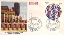NB - [406774]B/TB//-France  - (01) Perouges, La Fontaine Musicale D'Agam à Paris La Défense - Architektur