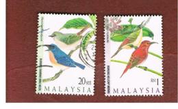 MALESIA (MALAYSIA)  -  SG 631.634  -   1997  HIGHLAND BIRDS   -  USED ° - Malesia (1964-...)