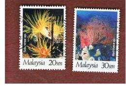 MALESIA (MALAYSIA)  -  SG 658.659  -   1997  CORAL REEFS   -  USED ° - Malesia (1964-...)