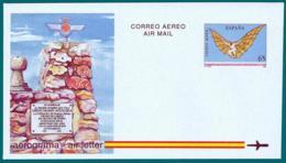 España. Spain. 1993. Aerograma. Air Letter. II Centenario Intento De Vuelo De Diego Martin Aguilera - Enteros Postales