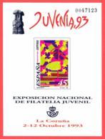 España. Spain. 1993. PO. Exposicion Filatelica Nacional Juvenil. JUVENIA '93. La Coruña - Exposiciones Filatélicas