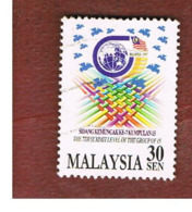 MALESIA (MALAYSIA)  -  SG 666  -   1997  GROUP OF 15 CONFERENCE   -  USED ° - Malesia (1964-...)