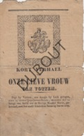 VOTTEM/Herstal/Luik - Kort Verhaal Onze Lieve Vrouw 1851 - Uiterst Zeldzaam! (R314) - Oud