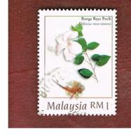 MALESIA (MALAYSIA)  -  SG 692  -   1998  MEDICINAL PLANTS: HIBISCUS ROSA-SINENSIS   -  USED ° - Malesia (1964-...)
