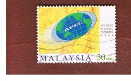 MALESIA (MALAYSIA)  -  SG 712b  -   1998  APEC   -  USED ° - Malesia (1964-...)