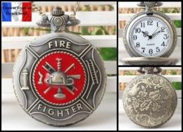 Montre Gousset NEUVE ! ( Pocket Watch ) - Pompiers Fire Fighters - Montres Gousset