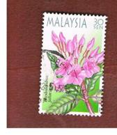 MALESIA (MALAYSIA)  -  SG 958  -   2000  HIGHLAND FLOWERS: RHODODENDRON FALLACINUM  -  USED ° - Malesia (1964-...)