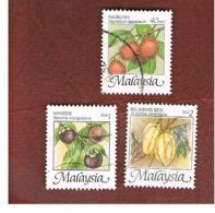 MALESIA (MALAYSIA)  -  SG 1095a.1095e  -   2002  TROPICAL FRUITS  -  USED ° - Malesia (1964-...)