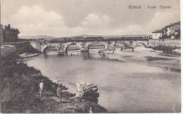 RIMINI-PONTE TIBERIO-BELLA VEDUTA-CARTOLINA NON VIAGGIATA-ANNO 1915-1925 - Rimini