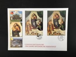 Gemein.Ausg. Vatikan-Deutschland Ersttagsbriefe/ FDC Sixtin. Madonnen (BW7448 - BRD