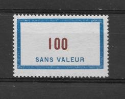 Fictif N° 125 De 1956 ** TTBE - Cote Y&T 2019 De 3 € - Phantom