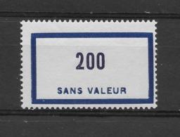 Fictif N° 126 De 1956 ** TTBE - Cote Y&T 2019 De 3 € - Phantomausgaben