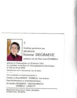 I.DEGRAEVE °OOSTROZEBEKE 1914 +TIELT (J.DOBBELS) - Images Religieuses