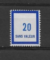 Fictif N° 131 De 1957 ** TTBE - Cote Y&T 2019 De 1 € - Phantomausgaben