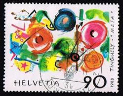 "Schweiz 1988, Michel # 1380 O ""Métamécanique"" By Jean Tinguely (1925-) - Schweiz"