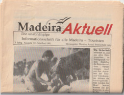 MADEIRA - AKTUELL - 1991 - 24 Pag - Viajes  & Diversiones