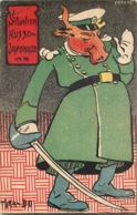RUSSIE , RUSSIA GUERRE RUSSO JAPONAISE , RUSSO JAPANESE  Illustration Satirique MIKA DO - Rusia